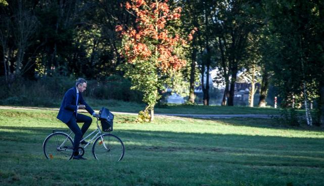 Jalgrattur heinamaal