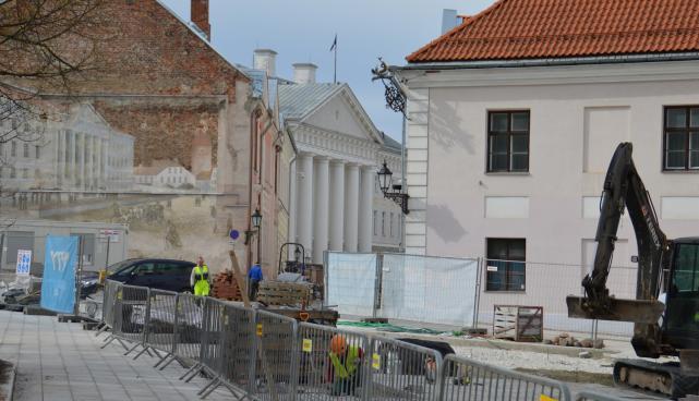 Ülikooli tänava rekonstrueerimistööd