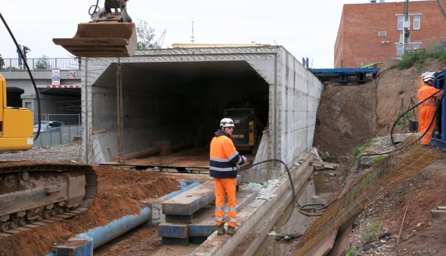 Riia-Vaksali ehitustööd