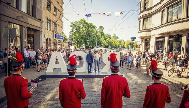A street in Riga named after Tartu was made car-free for one month