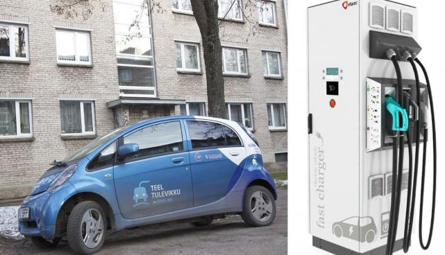 electric car rapid chargers