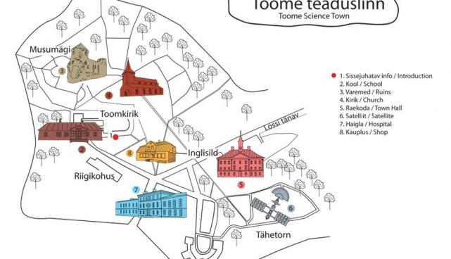 Science town map by Liina Tepand
