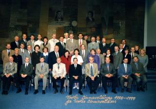 Volikogu III koosseis TÜ raamatukogu saalis