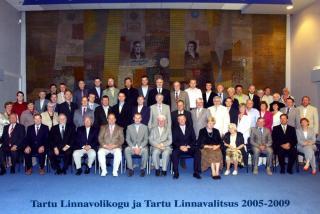 Volikogu VI koosseis TÜ raamatukogu saalis