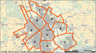Figure 3.4. Tartu street lighting district map.