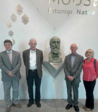 Pildil vasakult: prof Urmas Varblane, nobelist prof Christopher A. Sims, prof Helmut Lütkepohl ja prof Tiiu Paas