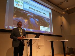 Raimond Tamm esineb Läänemere Linnade Liidu üldkonverentsil Växjös ettekandega ,,Climate Smart Tartu''.