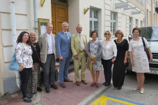 Riia ja Kaunase linnavalitsuste delegatsioonid Gaudeamust külastamas.