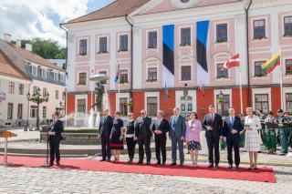Eesti president Kersti Kaljulaidi kutsel külastavad Tartut Soome, Gruusia, Islandi, Läti ja Poola presidendid. Foto: Raigo Pajula/Vabariigi Presidendi Kantselei.