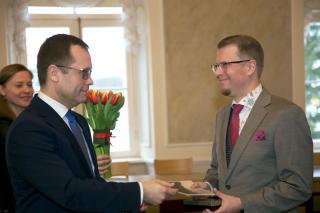 Tartu linnakirjaniku stipendiumi saab Mika Keränen. Foto: Ove Maidla