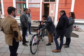 Rattaringluse rataste esitlus. Foto: Lilian Lukka