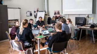 Tartu 2024 meeskond ja Sjoerd Bootsma.      Foto: Kiur Kaasik