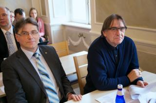 Chairman of the Faction of the Estonian Conservative People's Party Indrek Särg and Vice Chairman Indrek Kalda