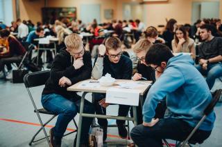 Üleriigiline õpilaste mälumäng Poska koolis 30. jaanuaril, foto: Ruudu Rahumaru