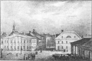 G. F. Schlater. Küüni Street. Lithography. 1832-1833