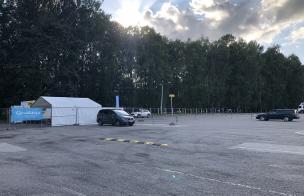 coronavirus testing tent